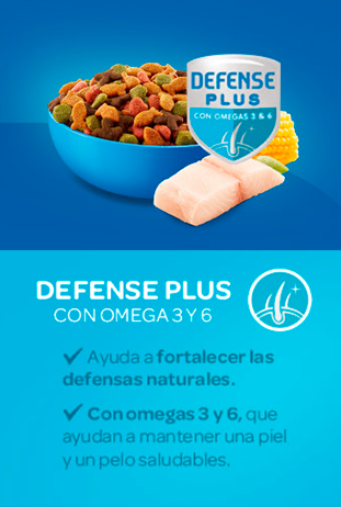 Cat Chow® 	DEFENSE PLUS OMEGA 3 Y 6