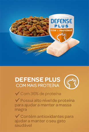 Cat Chow® defense mais proteina