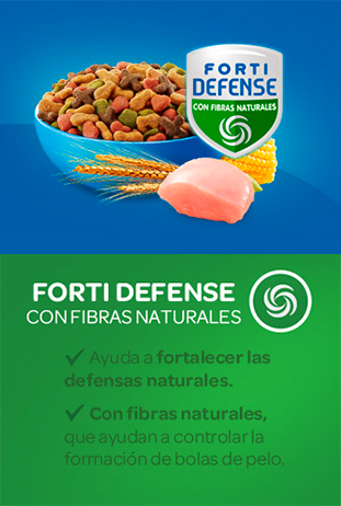 Cat Chow Forti Defense fibras naturales