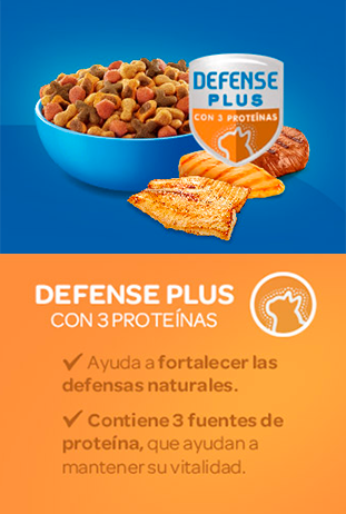 Cat Chow® defense plus con proteína