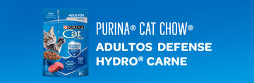 PURINA® CAT CHOW® Adultos Defense Hydro® Carne
