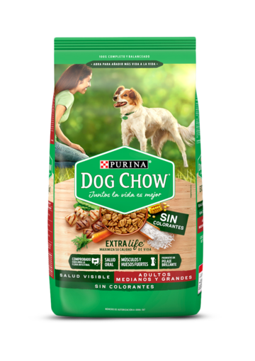 Dog Chow ADULTOS Sin Colorantes Medianos y Grandes