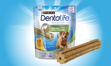 Purina DentaLife Daily Oral Care Chew Treats for Large dogs