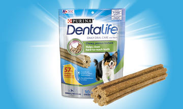 Purina DentaLife Daily Oral Care Mini Chew Treats for Small & Medium Dogs