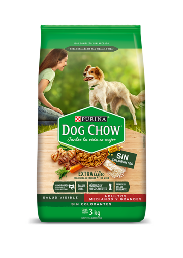 Purina Dog Chow Adultos Medianos y grandes sin colorantes