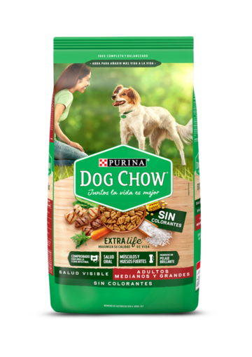 Purina® Dog Chow® Adultos Sin Colorantes Medianos y Grandes