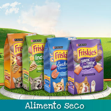 Purina® Friskies® Alimento Seco Productos