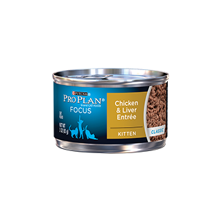 Purina® Pro Plan® focus kitten chicken & Liver entrée