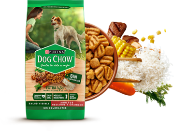 Purina Dog Chow Pack y bowl