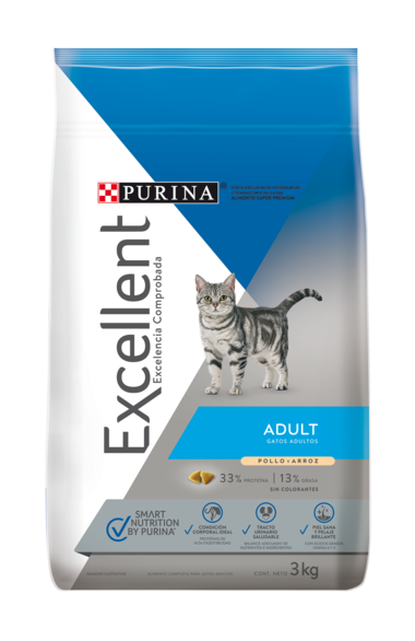 Excellent® Gatos Adulto Pollo y Arroz