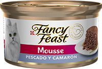 Fancy Feast Mousse Pescado y Camarón